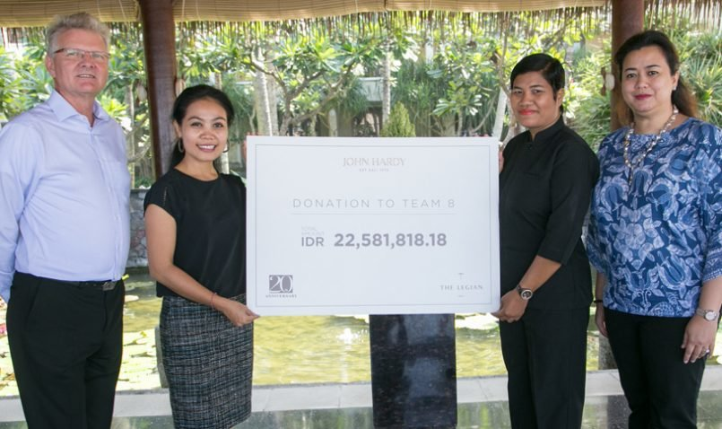 John Hardy's Contributions to the Team 8 Charity at The Legian Bali's 20th Anniversary Celebration