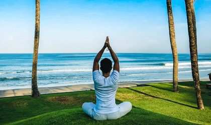 Daily sea view yoga