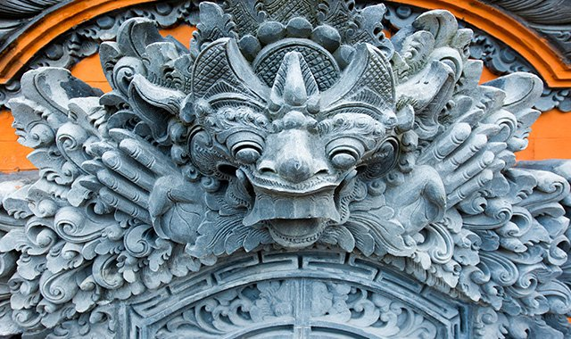 Statue at the Entrance to a Balinese Temple - The Legian Bali