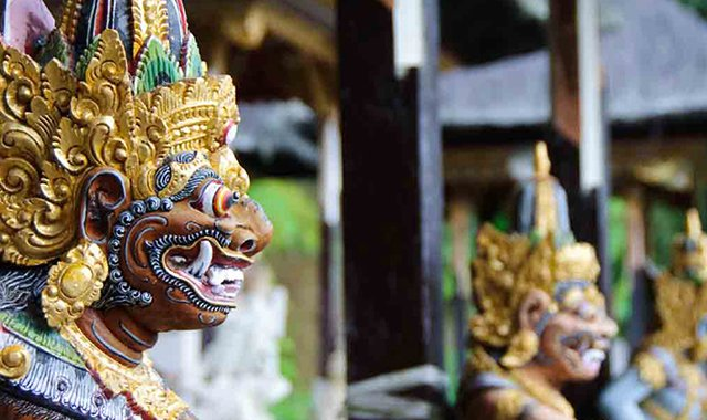 Statues at a Balinese Temple – The Legian Bali