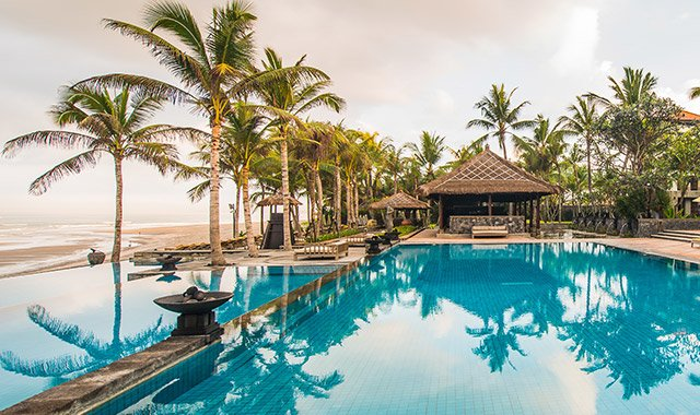 Infinity pool view- The Legian Bali